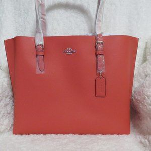 Coach Leather Mollie Tote (Tangerine)